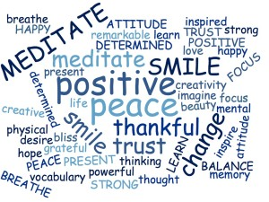 Word Cloud Meditate 3